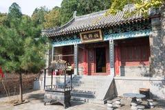 河南,中国- 2015年11月03日:在Mt的老君山洞 松山风景Ar 库存图片