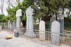 河南,中国- 2015年10月29日:坟茔华佗(140-208) 著名h 免版税库存图片