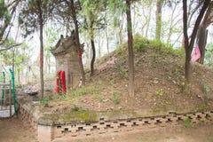 河南,中国- 2015年10月29日:坟茔华佗(140-208) 著名h 免版税库存照片