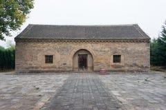 河南,中国- 2015年11月05日:太石村阙门(联合国科教文组织世界Herita 库存图片