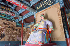 河南,中国- 2014年11月28日:岳飞雕象岳飞寺庙的 免版税库存图片