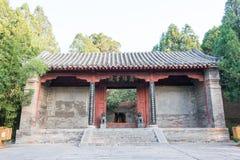 河南,中国- 2015年11月03日:嵩阳学院(联合国科教文组织世界Herit 库存图片