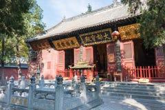 河南,中国- 2015年11月03日:法王寺 一著名历史坐 库存照片