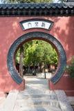 河南,中国- 2015年11月03日:法王寺 一著名历史坐 免版税库存照片