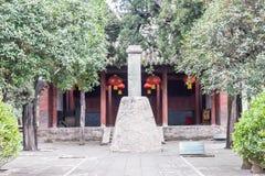 河南,中国- 2015年11月07日:测量由帆柱的阴影平台 库存照片
