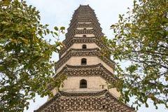 河南,中国- 2015年10月29日:许昌的Pag许昌文峰塔 库存照片