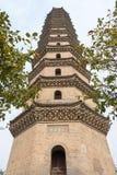 河南,中国- 2015年10月29日:许昌的Pag许昌文峰塔 图库摄影