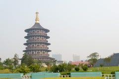 河南,中国- 2015年7月07日:隋和唐代洛阳市Na 免版税库存照片