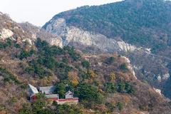 河南,中国- 2015年11月03日:Mt 松山风景区 著名喂 免版税图库摄影