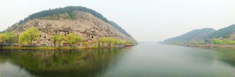 河南,中国洛阳旅游胜地龙门石窟 库存图片