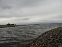 河口的岸 免版税库存照片