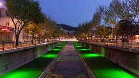 河和夜交通timelapse 影视素材
