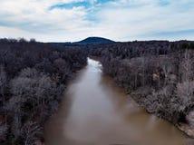 河和天际视图 图库摄影