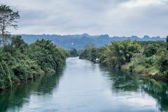 河和森林 免版税库存图片