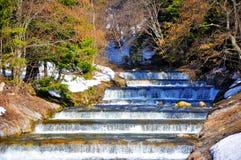 河和解冻的雪 免版税库存照片