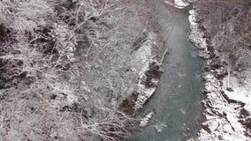 河和降雪 股票视频