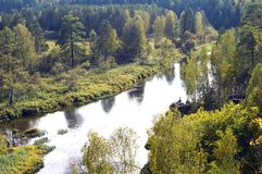 河在一个自然公园 免版税库存照片