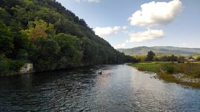 河在东部田纳西 免版税库存图片