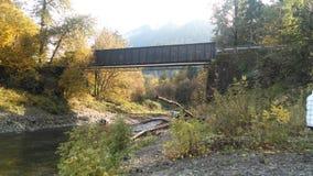 河在俄勒冈 免版税库存照片