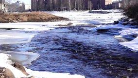 河在冰的射流 股票录像