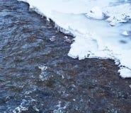 河在冻结的冬日 库存照片