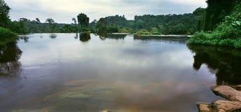 河在加蓬 免版税库存照片