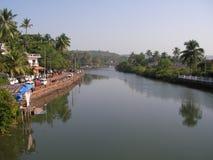 河在印度 免版税库存照片