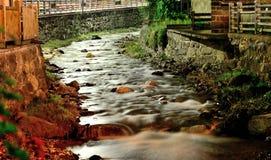 河在夜之前 库存照片