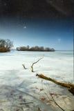 冻河在春天 库存照片