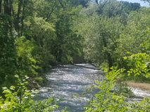 河在秋天之前 图库摄影