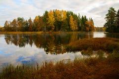 河在秋天 库存图片