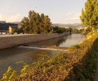 河在萨拉热窝 库存照片