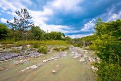 河在绿色natuew视图的Mirna峡谷 库存照片