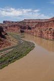 河在Canyonlands N P 犹他 免版税库存图片