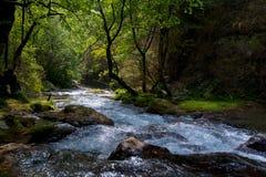 河在Drome地区在法国 库存照片