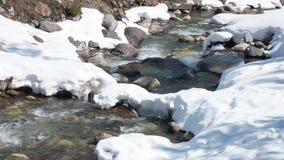 河在Elbrus山4k录影附近流动 股票视频