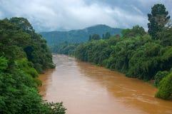 河在Gampola,柬埔寨 库存照片