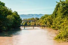 河在Geveva 库存图片