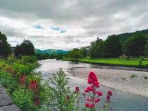 河在Llranrwst 免版税库存照片