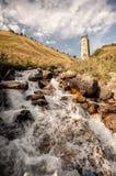 河在Svaneti 库存照片