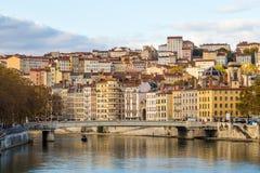 河场面在市利昂 免版税库存照片