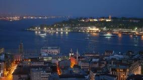 河城市地平线船 影视素材