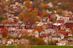 河城镇美国 免版税图库摄影