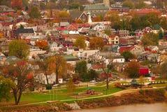 河城镇美国 免版税库存图片