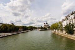 河塞纳河,巴黎 免版税图库摄影