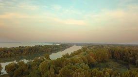 河多瑙河视图 股票视频