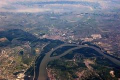 河多瑙河, Hundary 库存图片