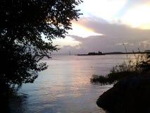河奥里诺科河BolÃvar委内瑞拉桥梁苦味液 库存图片