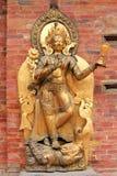河女神甘加的雕象在Patan,尼泊尔 免版税库存照片