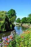 河安高和桥梁,塔姆沃思 免版税库存照片